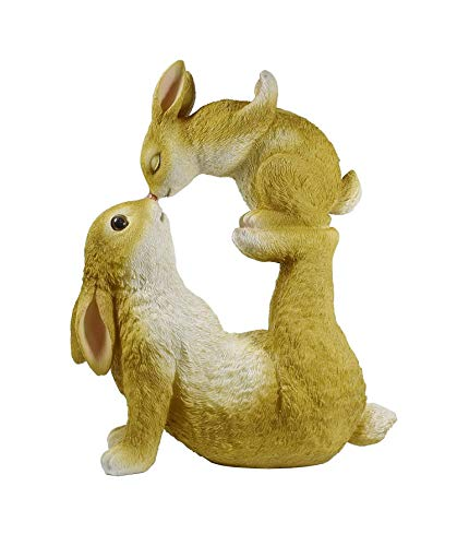Hase Osterhase Hasen Kind Kaninchen Deko Garten Figur Dekohase Paar Skulptur