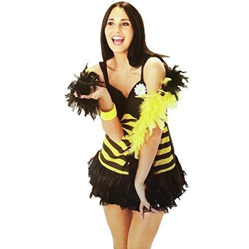 Rubie's Bumble Bee Dress Fancy Dress (Bumble Fancy Bee Dress Erwachsene)