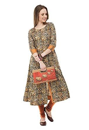 AnjuShree Choice Women Stitched Multi Colour Printed Cotton Kurti (M - 38)