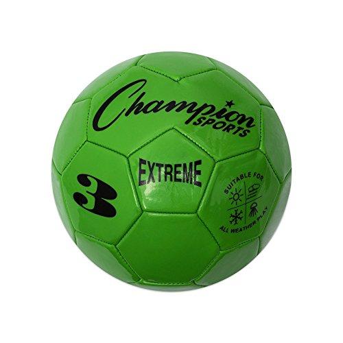 Champion Sports Extreme Serie Composite Fußball: Größen 3, 4, & 5in mehreren Farben, grün (5 Zoll Fußball)