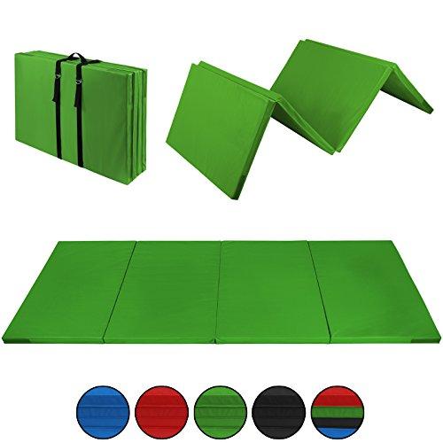 ALPIDEX Klappbare Leichtschaum Turnmatte 300 x 120 x 5 cm RG 18 mit Klettecken 3fach klappbar mit...