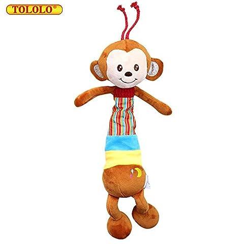 TOLOLO Cute Animal Musical Pendant Monkey Doll Plush Newborn Baby Toys