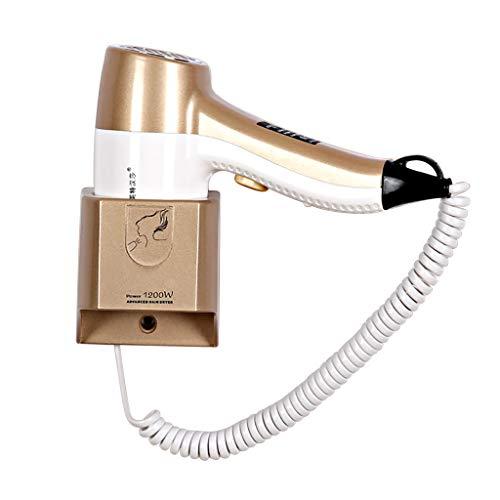 Ruhiger An Der Wand Befestigter Hangup-Haartrockner, Kompakt, Leicht, Hotel-Home-Badezimmer, Weiß -