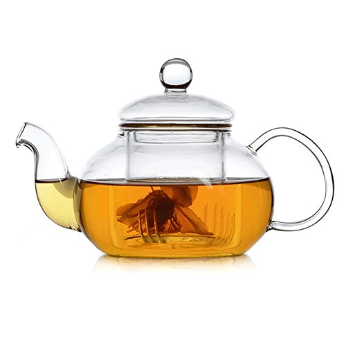 Yithings teiera vetro tazza di teiera piccola con infusore in vetro resistente al calore per tisana sfusa (250ml / 8,6 oz) (250ml)