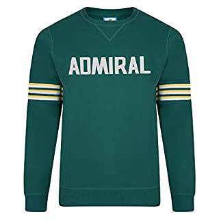 Celtic F.C. Official Retro Admiral 1974 Green Club Sweatshirt