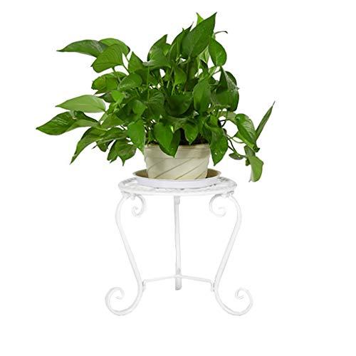 GWM Iron Flower Rack, Kreativrahmen Boden Balkon Blumenbeetrahmen Interieur Wohnzimmer Pot Coaster (Farbe: Braun) (Farbe : Weiß) -