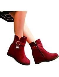 Sonnena Botas Casual - Botines de cuña para mujer Botines planos Zapatos de plataforma de tobillo