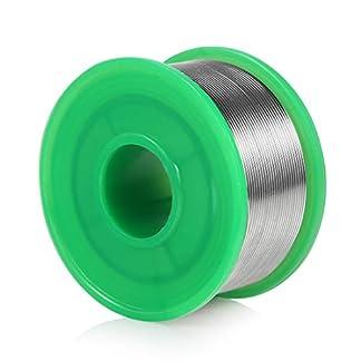 Hilo de Estaño para Soldar Soldadura con Núcleo de Resina, 0.8 mm estaño cable alambre de soldar Sn99.3% Cu0.7%, 100 g