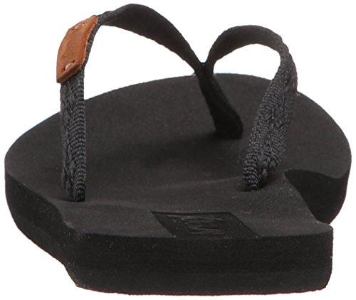 Reef - SLIM GINGER BLACK/BLACK, Sandali infradito Donna Nero (Black/Black)