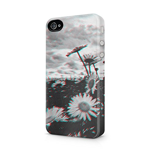 Maceste Trippy Daisy Grunge Tumblr Kompatibel mit iPhone 4 / iPhone 4S SnapOn Hard Plastic Phone Protective Fall Handyhülle Case Cover