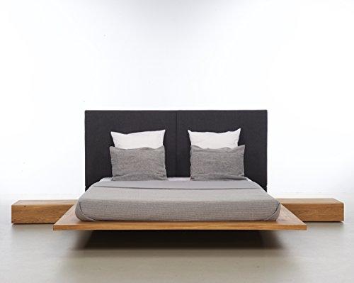 MAZZIVO Mood 2.0 Hochwertiges Holz Bett schlicht & zeitlos filigran modern edel & elegant - italienisches Design 120 140 160 180 200 Überlänge Eiche Erle Buche Esche Kirschbaum (Erle, 160 x 210 cm) -