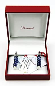 Baccarat Jewelry Torsade Sterling Silver Stem Earrings Midnight Blue Crystal Brand New, Sealed in Original Box by Baccarat Torsade