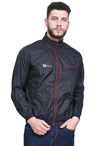 VERSATYL Men's Polyester Jacket (Dark Black, XL)