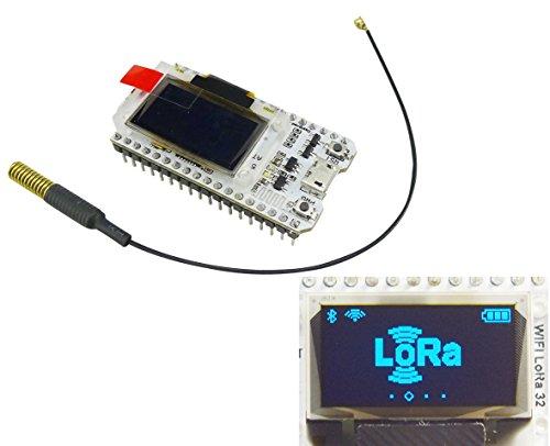 Aihasd 0,96 Zoll OLED Anzeige ESP32 Mit 433Mhz Antenne WiFi Bluetooth Lora Entwicklungs-Board Transceiver SX1278 433MHZ IOT Für Arduino - Antenne Transceiver