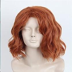 GSP-Avengers edad de la peluca resistente Ultron viuda negro cosplay peluca de color marrón oscuro pelo sintético de calor , brown