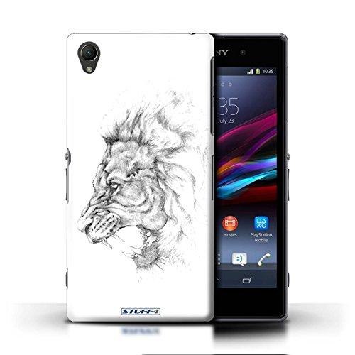 Kobalt® Imprimé Etui / Coque pour Sony Xperia Z1 / éléphant conception / Série Dessin Croquis Lion