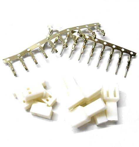 C1012 RC Equilibre Connecteur Set Etamés x 5 2 Broches Prise Mâle / Prise Femelle