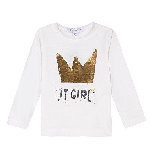 3 pommes Baby-Mädchen T-Shirt Tee ML, Weiß (Off-White), 12-18 Monate Preisvergleich