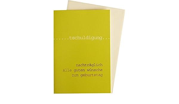 Glückwunschkarte Grußkarte Nachträglich Zum Geburtstag