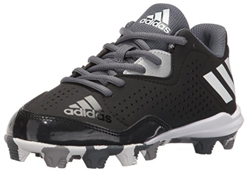 adidas Performance Kids' Wheelhouse 4 K Baseball Cleat, Black/White/Silver Metallic, 11 M US Little Kid