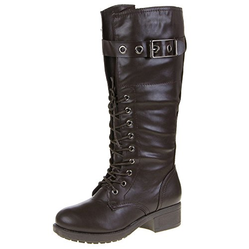 Damen Schuhe, 15-234, STIEFEL Dunkelbraun 15-234