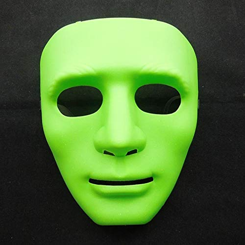 Bilder Kostüm Der Hop Hip Tanz - Halloween Halloween Maskerade Dress Up Maske Hip-Hop Tanz Requisiten Ball Party Kostüm Masken Cosplay Scary Solid (Color : Green)