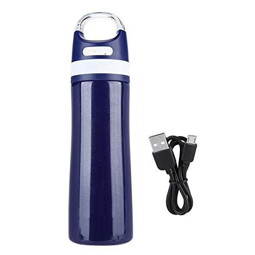 Garsent Bluetooth Lautsprecher Wasserflasche, 450ml vakuumisolierte Edelstahlflasche mit wasserdichtem Bluetooth USB Musik Speaker Thermoskanne für Freizeit und Sport(blau) - Thermoskanne 450