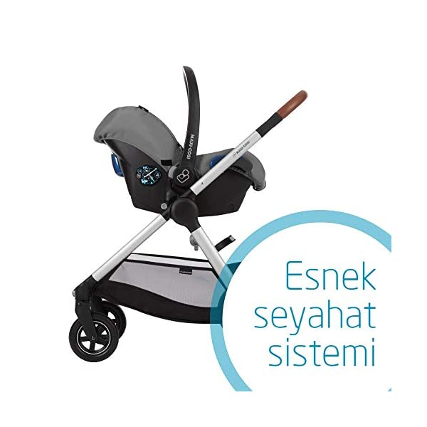 Maxi-Cosi Kinderautositz Citi Concrete Grey Maxi-Cosi Side protection system, guarantees optimal protection in the event of a side impact Lightweight, light weight and ergonomically shaped safety bar for use as carrying handle Practical travel system 5