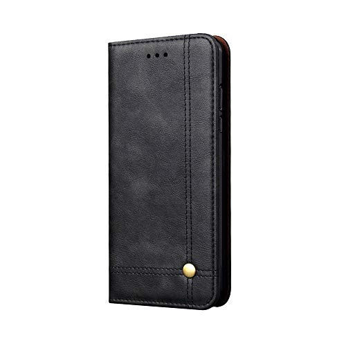 Price comparison product image For iPhone XR Case Luxury Genuine Leather Case Wallet Stand Flip Cover Skin with Card Slot Phone Cover for Apple iPhone XR 6.1 inch (Black)