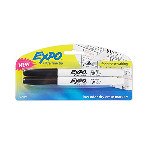 expo-low-odor-dry-erase-markers-ultra-fine-tip-2-pack-black-by-newell-rubbermaid-office