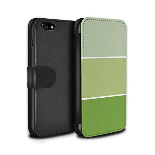 Stuff4 Coque/Etui/Housse Cuir PU Case/Cover pour Apple iPhone 8 / Pack 10pcs Design / Tons de Couleur Pastel Collection Vert