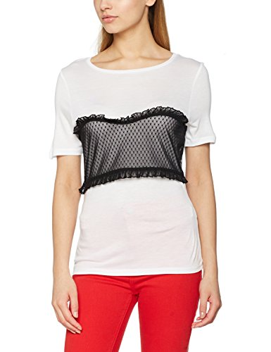 New Look Damen T-Shirt White (White Pattern)
