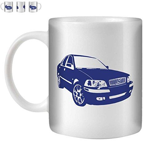 stuff4-tea-coffee-mug-cup-350ml-blue-volvo-s40-t4-white-ceramic-st10