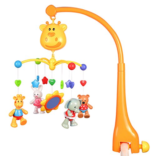 Fisca Multifunctional Baby Mobile for Crib Musical Crib Toys Baby Kids Crib Mobile Bed Bell Sound Toys Music Educational Toy
