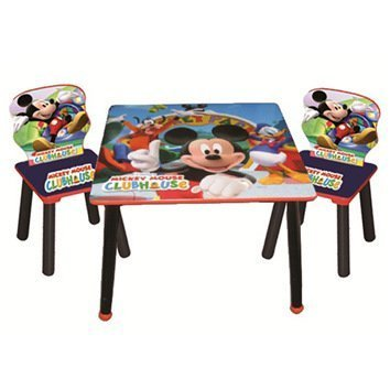 Kids Disney Bedroom Furniture Set with Table and Chair Set Multicoloured