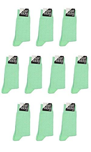 just socks 10 Paar Business Basic Socken mint-green pastel grün Mehrfachpack, Size:39-42