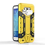 Cocomii Transformer Armor Galaxy J7 2016 Funda [Robusto] Incorporado Cartera Soporte Antichoque Caja [Militar Defensor] Cuerpo Completo Case Carcasa for Samsung Galaxy J7 2016 (T.Yellow)