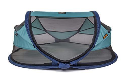Deryan Travel-cot Baby Luxe Reisebettzelt inklusive Schlafmatte, selbstaufblasbarer Luftmatratze und Tragetasche mit Pop-Up innerhalb 2 Sekunden aufgebaut, ocean - 4