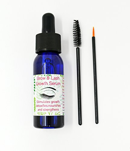 Eyelash & Eyebrow Growth Serum CASTOR OIL Grows Longer Fuller Thicker Lash Honestly Formulated 30ML Made in UK (1 X 30 ML)