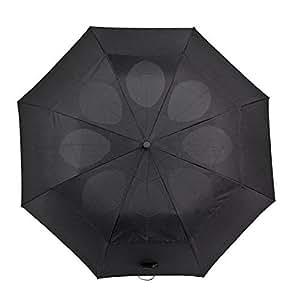 Windproof StayDry Compact Folding Umbrella Brolly Rain Waterproof Black