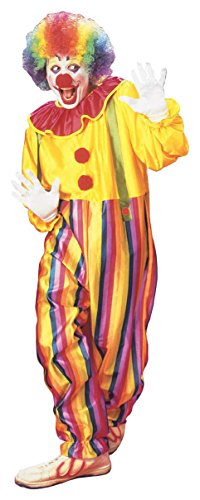 Costume da CLOWN economico con collare e bretelle