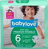 babylove Windeln Premium aktiv plus Größe 6, XXL 16-30kg, 32 St