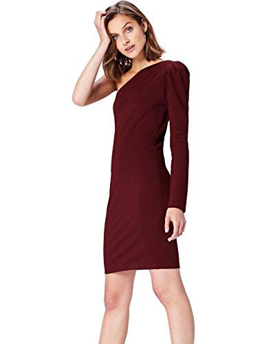 find. Vestito Monospalla Donna , Rosso (Tawny Port), 42 (Taglia Produttore: Small)