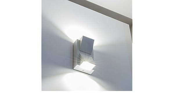 Applique lampada decoro parete per esterni w doppia luce alta