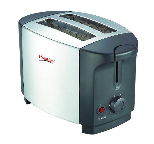 Prestige PPTSKS 750-Watt Pop-up Toaster (Silver/Black)