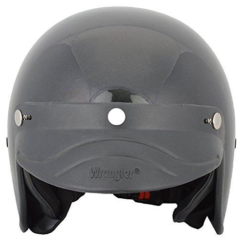 Wrangler Sopy Half Face Helmet (Black, M)