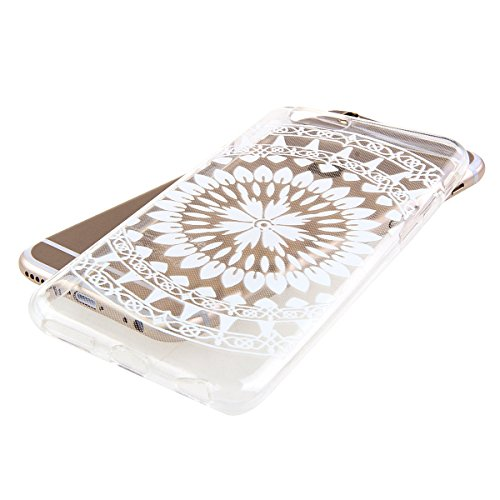iPhone 6S Hülle, iPhone 6 Hülle, iPhone 6 / 6S Silikon Crystal Case Hülle mit Malerei Muster, SainCat Weiche Transparent Silikon Schutzhülle Hülle Gel Bumper Soft TPU Case Backcase Weiches Crystal Cle Candlelight Campanula
