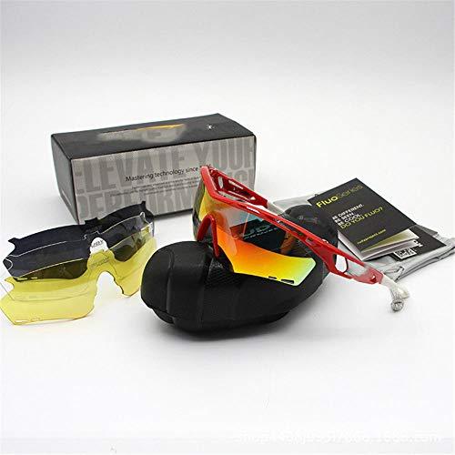 ANSKT Polarisierte Sportsonnenbrille - Herren- und Damenfahrradbrille +3 Wechselgläser und klare Gläser - Polarisierter UV400-Schutz @ 1