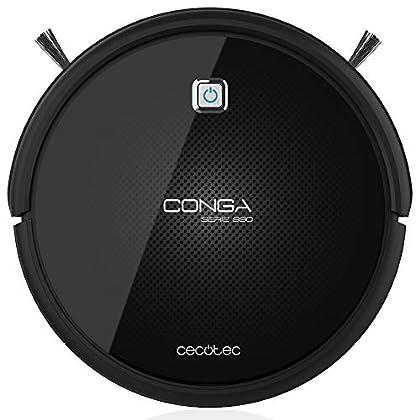 Cecotec Conga Excellence 990, Robot Aspirador 4 en 1,  navegación iTech 3.0, programable 24h, 5 modos de limpieza, negro