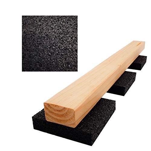 Lot de 150 tapis de terrasse en granul/és de caoutchouc pour terrasse de 6 mm 90 x 90 mm